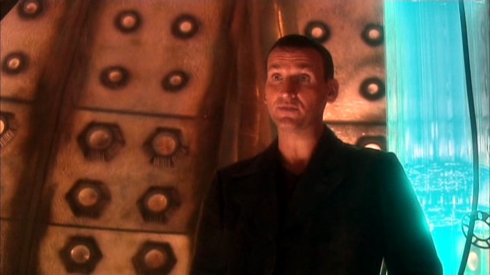 El Noveno Doctor en la TARDIS