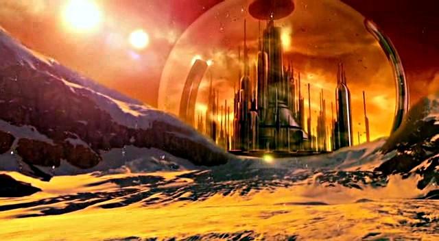 La Ciudadela de Gallifrey, donde viven la mayoría de los Señores del Tiempo en The End of Time (El Fin del Tiempo)
