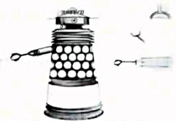 Uno de los primeros borradores de diseño de los Daleks de Cusick