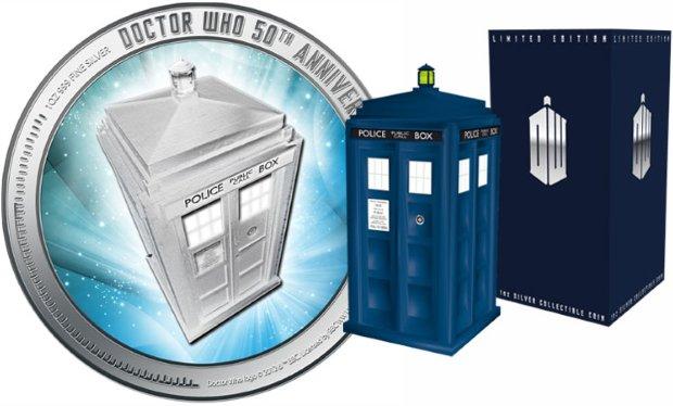 doctor who Monedas conmemorativas 50 aniversario