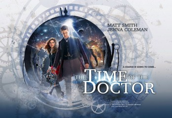 poster promocional doctor who - the time of the doctor  BBC America 2