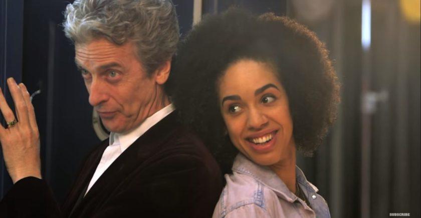 Peter Capaldi y Pearl Mackie