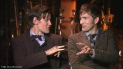 Lo prometido es deuda: video de Matt Smith y David Tennant